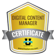Digital Content Manager badge